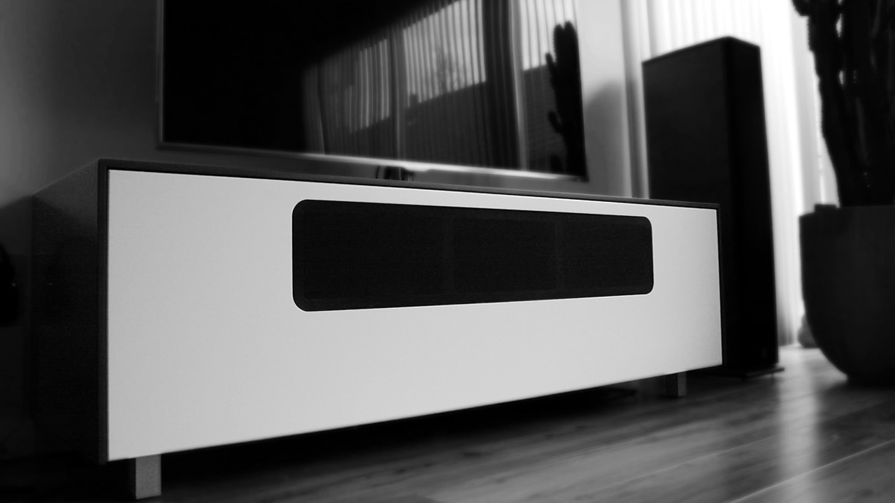 design audiomeubel van Corian
