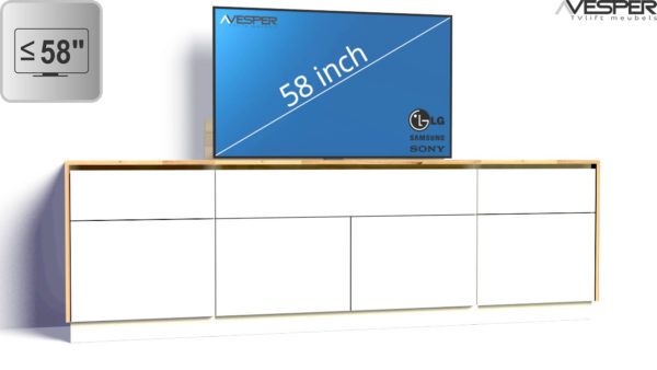 VESPER TV-lift meubel productafbeelding voor 58 inch TV
